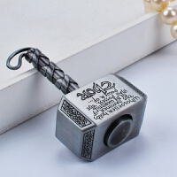 雷神之锤指尖陀螺减压复古合金锤子手指间旋转陀螺钥匙挂件玩具