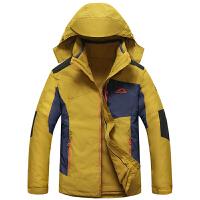 冬装新款豹迹内胆可脱卸情侣款冲锋衣外套 15c187防寒防风保暖