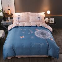 床单被罩四件套全棉纯棉欧式裸睡被套简约套1.8m双人床上用品