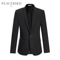太平鸟男装 新款夏季黑色修身西服外套便西BYBA