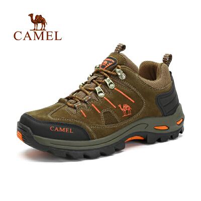 CAMEL/骆驼户外登山鞋男女防滑减震户外鞋低帮牛皮徒步鞋