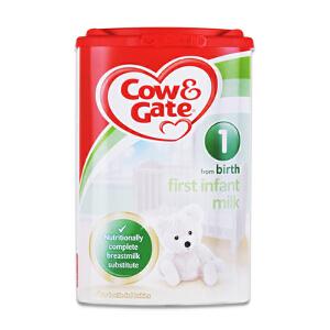 保税区发货 英国Cow&Gate牛栏婴幼儿配方奶粉1段(0-6个月宝宝 900g)