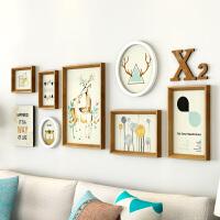 纪恒暄 客厅装饰画沙发背景墙画小清新麋鹿壁画 卧室北欧风格挂画