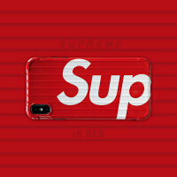 新款苹果x手机壳iPhone7plus情侣款xs/xmax潮牌硅胶8p/6s全包边xr 6/6S(4.7) 红色sup