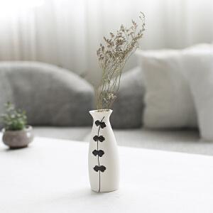 摆件 日式雪花釉小清新文艺创意简约花瓶工艺摆件陶瓷花瓶道插花装摆饰饰品 创意家饰