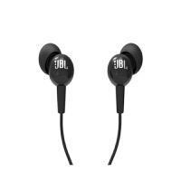 JBL C100SI 入耳式运动耳机 通话带麦线控音乐跑步耳机 黑