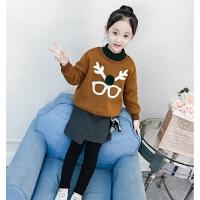 女童套装秋冬冬装中大童儿童卫衣裙裤两件套