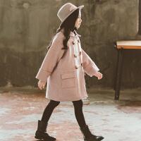 女童呢大衣秋装中大儿童装毛呢外套小女孩洋气外衣潮