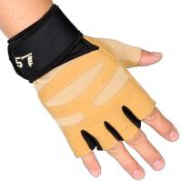 健身手套男女士户外运动半指手套健身房哑铃举重冬保暖长护腕