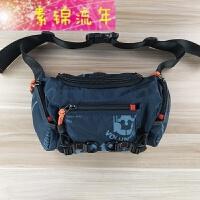 新品大容量腰包男包休闲户外运动胸包斜挎单肩包男小包防水布包多功能