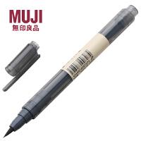 无印良品毛笔便携式毛笔科学毛笔书法笔/软头黑墨水毛笔