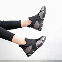 休闲鞋女新款士内增高百搭运动鞋韩版原宿旅游内增高