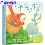 Flip Flap Fly 英文原版绘本 啪嗒啪嗒起飞啦 幼儿纸板图画书 儿童单词启蒙学习 常青藤爸爸英语启蒙