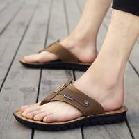 货到付款 夏季拖鞋男士一字拖潮人个性韩版潮拖室外沙滩凉鞋防滑人字拖凉拖