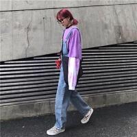 背带裤女2019秋冬韩版学生减龄高腰宽松直筒牛仔连体裤潮