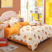 床单四件套被套三件套学生宿舍单人床3件套简约双人床床上用品 2.0(被套200*230 床单 枕套2)