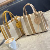 包包2021新款法式帆布包女单肩包公文斜挎包布袋手提通勤包托特包