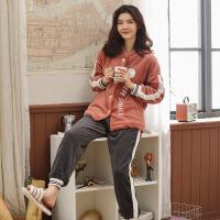 珊瑚绒睡衣女秋冬季长袖加厚开衫韩版可爱法兰绒时尚家居服套装 8803#
