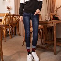 【2.5折价40元】唐狮冬装新款牛仔裤女弹力紧身小脚牛仔长裤显瘦韩版学生高腰