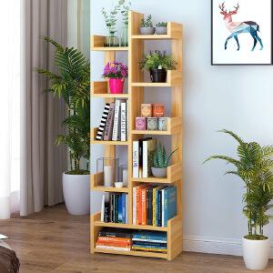 亿家达书架落地简约现代简易置物架桌上经济型省空间创意树形书柜学生用
