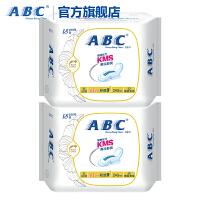 ABC蓝芯瞬吸KMS清凉舒爽超薄透气棉柔240mm日用卫生巾4包 共32片