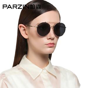 帕森炫彩偏光太阳眼镜 男女金属圆框复古时尚墨镜9736K