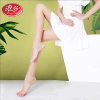 2双 浪莎踩脚丝袜连裤袜防勾丝超薄款夏季肉黑色丝袜性感隐形打底裤袜