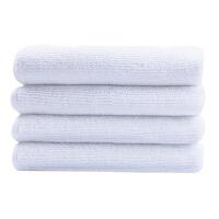 双馨 超细纤维擦巾(天蓝色) 纤维擦布 清洁布 擦拭巾 擦巾 毛巾 白色(30*30cm) 2.99元/条