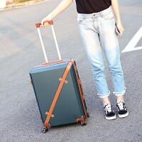 拉杆箱万向轮女20寸学生密码箱包男女24寸复古旅行箱子