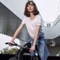 【顺丰包邮 乐享户外】诺诗兰19新款夏季女户外运动休闲排汗舒适休闲短袖T恤GL082246