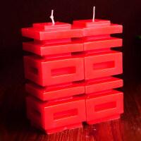 结婚用品中式复古喜字蜡烛 创意婚庆婚礼浪漫婚房洞房蜡烛