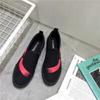 2017男士帆布鞋低帮懒人一脚蹬涂鸦款运动板鞋港风潮鞋