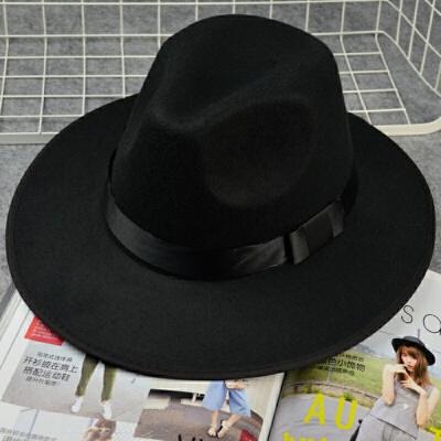 上海滩许文强复古黑色大檐英伦爵士帽礼帽男女士舞台儿童表演帽子 黑色 封面款 发货周期:一般在付款后2-90天左右发货,具体发货时间请以与客服协商的时间为准