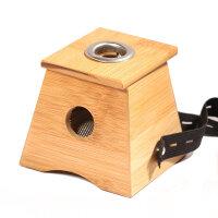 益养天年艾灸盒 随身灸 竹制单孔艾灸盒 温灸器艾灸罐艾条盒