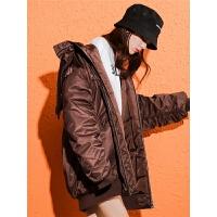 七格格棉袄女2018新款韩版学生冬季女宽松bf中长款面包服外套