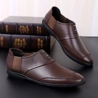 夏季品牌新款男士皮鞋真皮休闲鞋商务鞋绅士鞋驾车鞋英伦风潮流时尚百搭