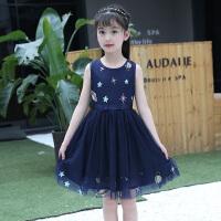 公主裙女童蓬蓬�夏�b2018新款洋��和��B衣裙夏季�n版�棉背心裙