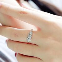 戒指女开口尾戒潮人关节食指小指环学生