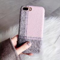 毛绒布手机壳苹果x保护套iphone8女7plus个性创意6s新款 6/6s 4.7寸 粉