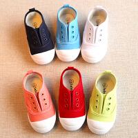 春秋宝宝室内鞋单鞋懒人儿童帆布鞋小白鞋男童女童鞋小童鞋子