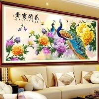 新款大幅古典花开富贵孔雀牡丹图十字绣客厅装饰钻石画满钻粘贴画