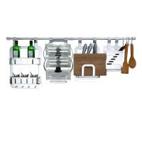 凯鹰 厨房挂件厨房置物架壁挂锅盖架刀架太空铝厨卫五金挂件套装KPX3