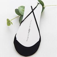 冰丝船袜女棉垫前半截脚掌浅口吊带隐形袜子女夏季高跟鞋袜套 黑色 4双