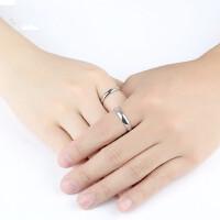 情侣戒指一对 925纯银对戒简约女学生潮人男士个性饰品 支持礼品卡支付