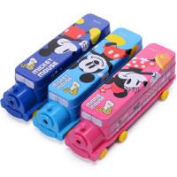 小学生文具盒迪士尼儿童多功能铅笔盒创意火车多层马口铁盒笔盒
