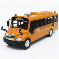 儿童玩具车男孩 大号仿真校车模型合金小汽车巴士车公交车婴儿宝宝