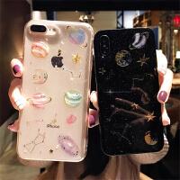 梦幻星空J5星球J4+三星S10plus手机壳A6plus硅胶j7软壳全包A8+ S10 透明星球