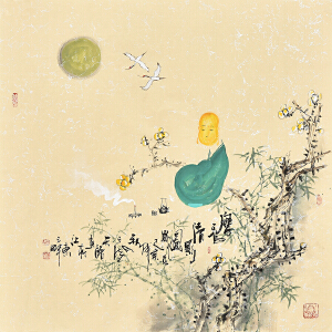 中国国际书画协会会员  天语扉香轻影图gr01381