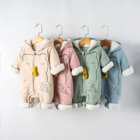 婴儿衣服外出抱衣秋冬可爱新生婴儿爬爬服宝宝连体衣