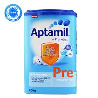 德国爱他美(Aptamil)婴幼儿配方奶粉Pre段(0-3个月)800g原装进口 1罐装 保质期到18年10-12月